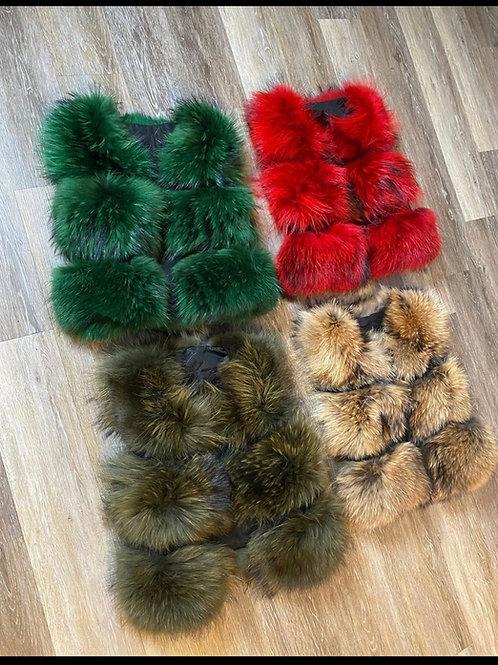 100% Racoon Fur Vest