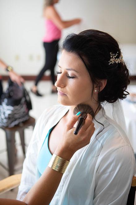 Wedding getting ready makeup