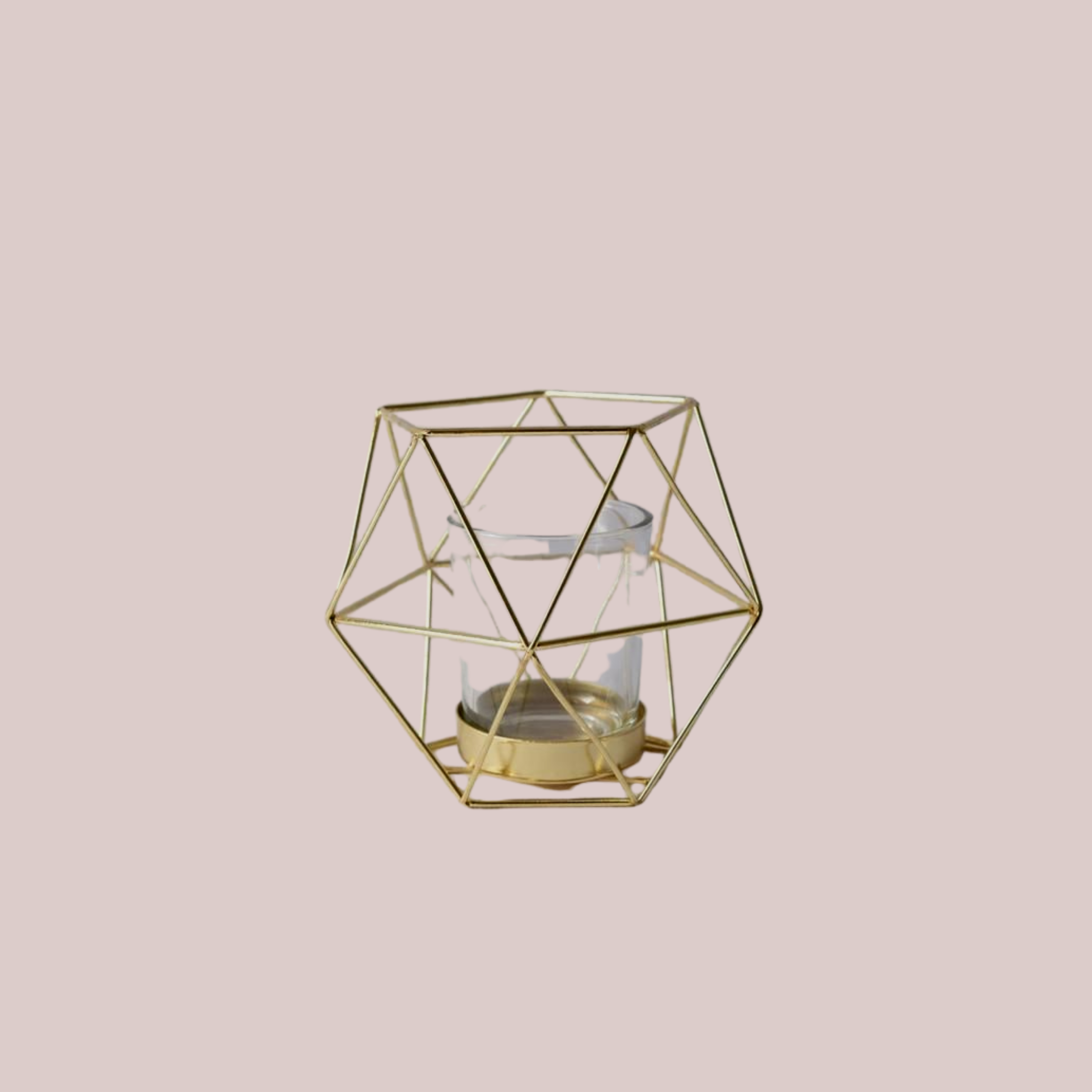 GOLD GEO TEALIGHT