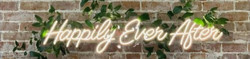 HAPPILY EVER AFTER-WHITE-LARGE NEON SIGN