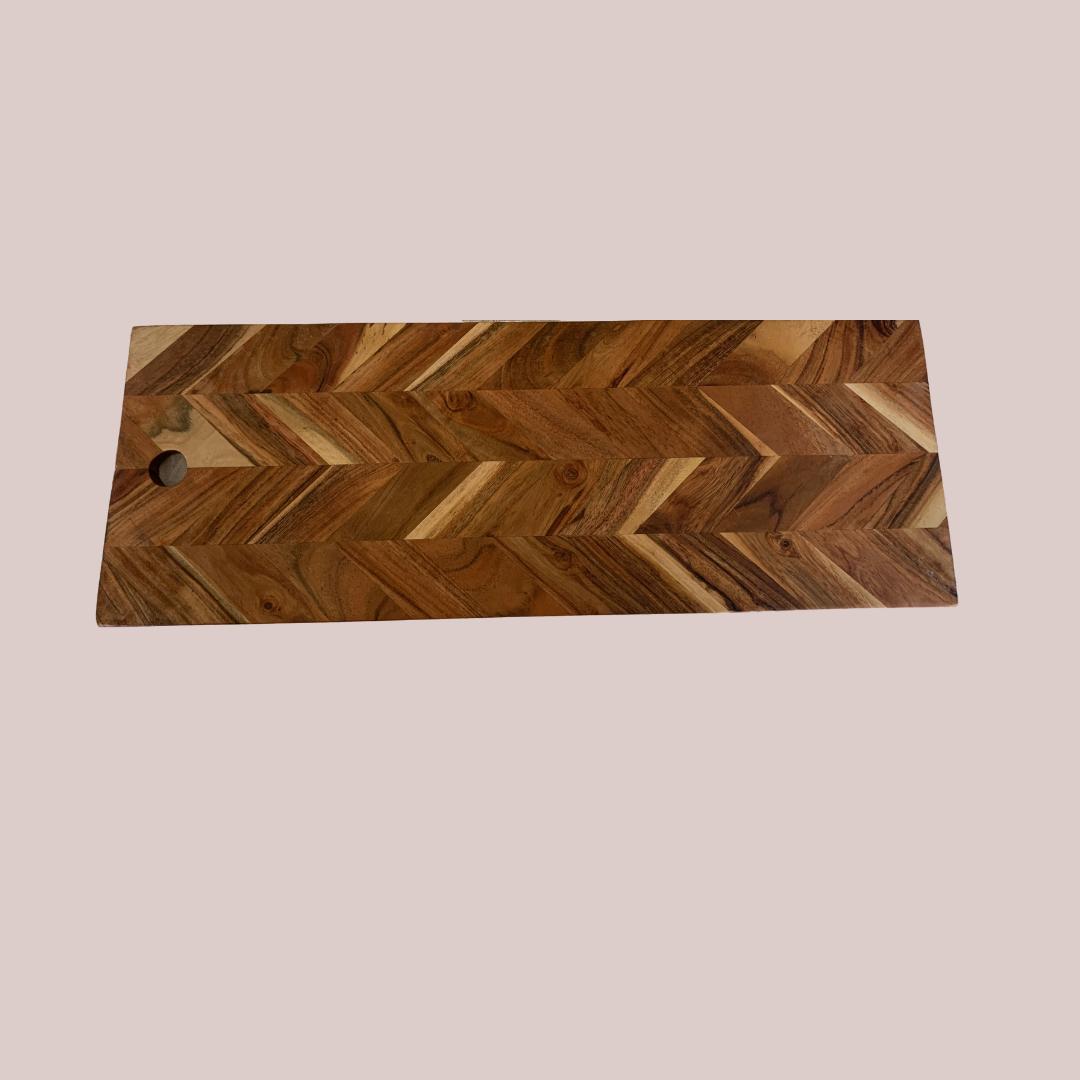 Herringbone Wooden Platter