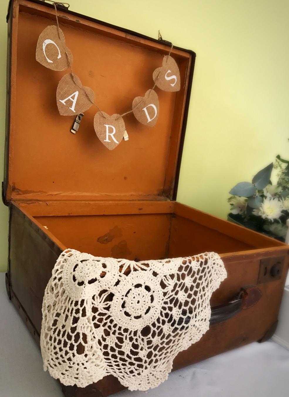 Vintage Suitcase Wishing Well