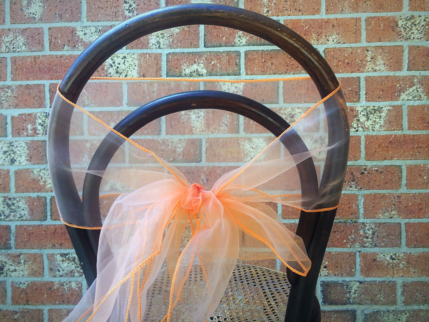 Apricot Organza Chair Tie