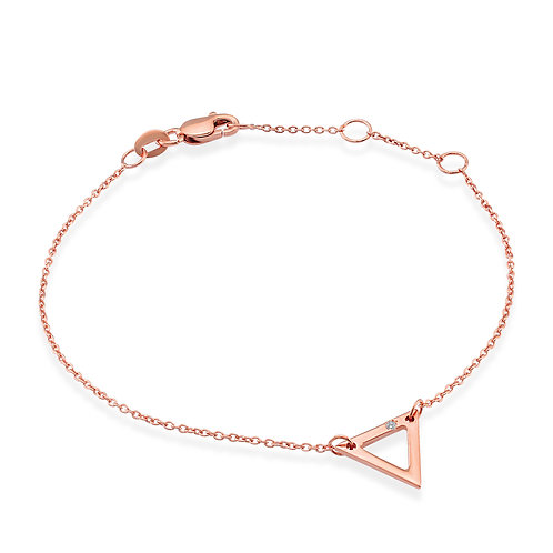 Diamond Triangle Shaped Bracelet