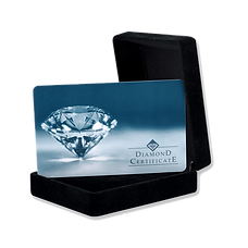 Certificated diamond jewelery