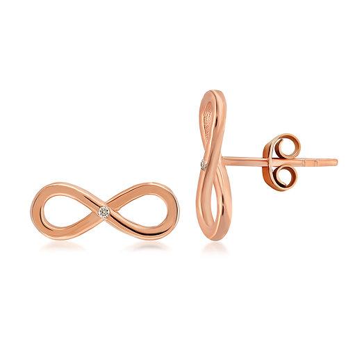 Diamond Infinity Earring