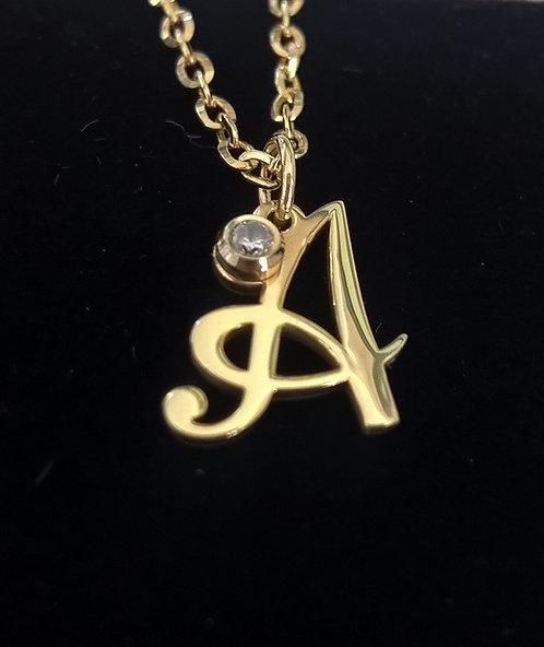 14K Yellow Gold plated Monogram Necklace