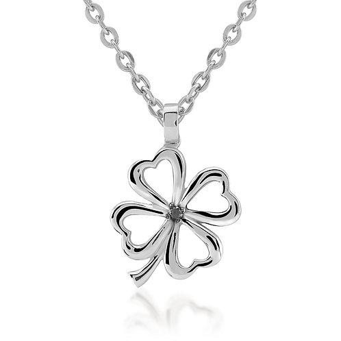 Black Diamond Clover Necklace
