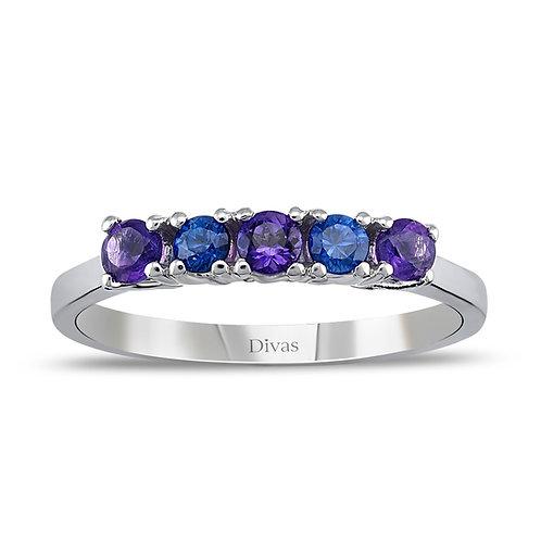Sapphire-Amethyst Ring