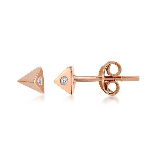 Diamond Triangle Shaped Earring