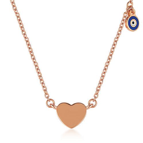 Good Luck Eye Heart Necklace