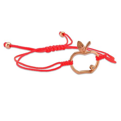 Diamond Apple Bracelet