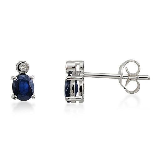 Diamond & Sapphire Earring