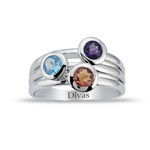 Precious Stones Ring