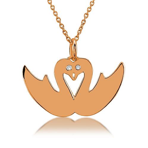 Diamond Swan Necklace