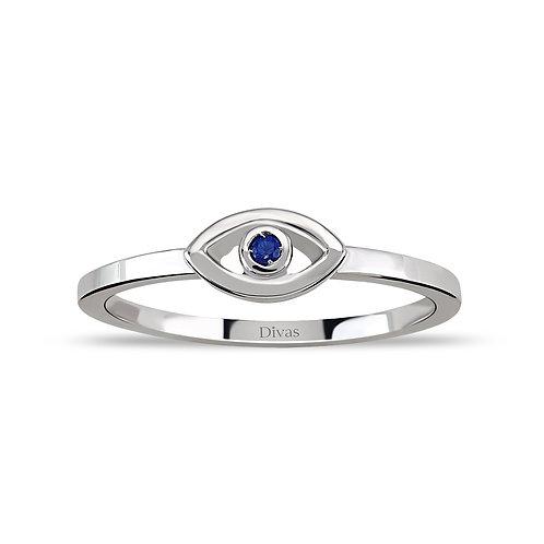 Sapphire Good Luck Eye Ring