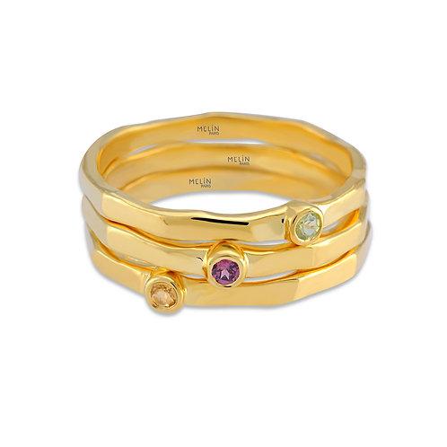 Peridot, Rhodolite Garnet & Citrine Ring