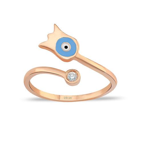 Tulip Good Luck Eye Ring