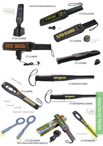 Hand-held metal detectors