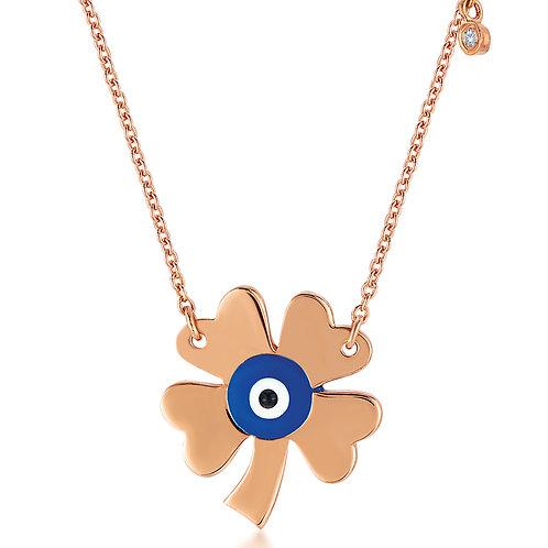 Diamond Good Luck Eye Necklace