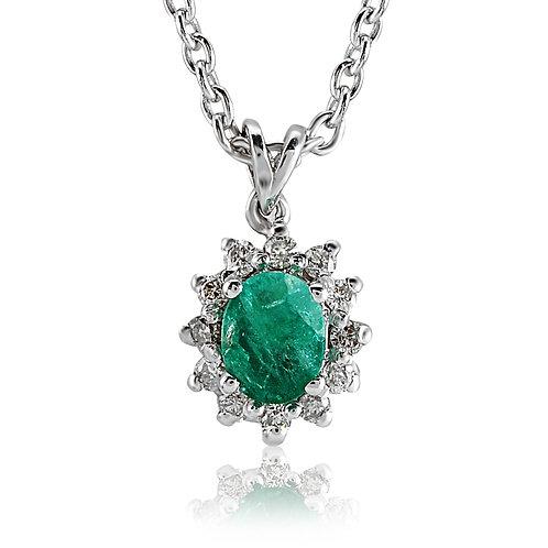 Emerald & Gemstones Necklace