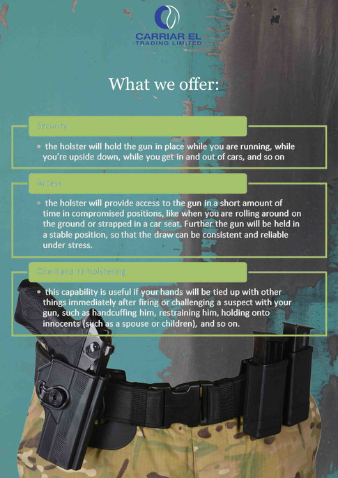 Holsters specification