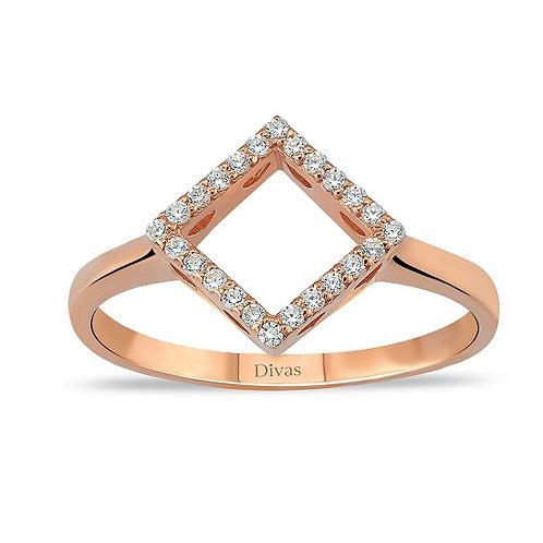 Gemstone Geometric Ring