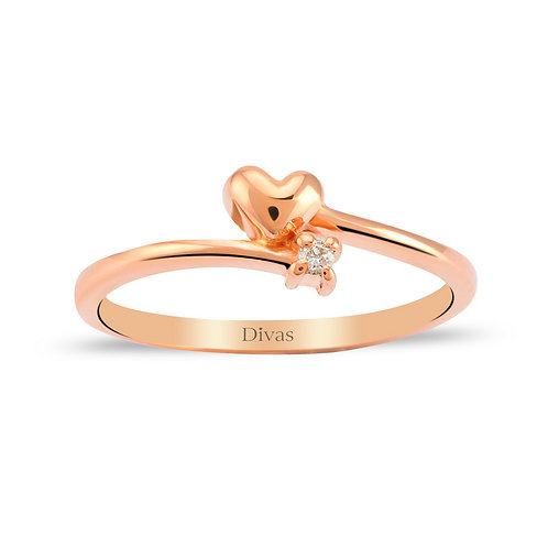 Heart Diamond Solitaire Ring