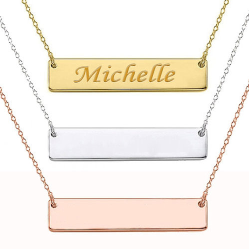 Sterling Silver ID Name Necklace