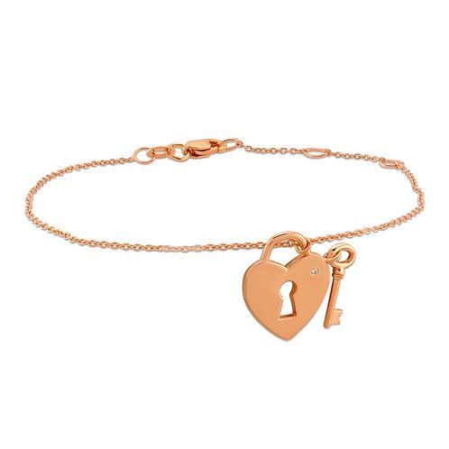 Heart-Lock Bracelet with Key