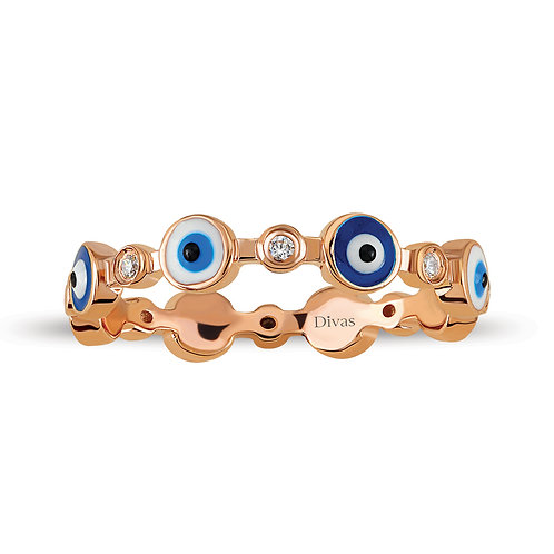 Gemstone Good Luck Eye Ring