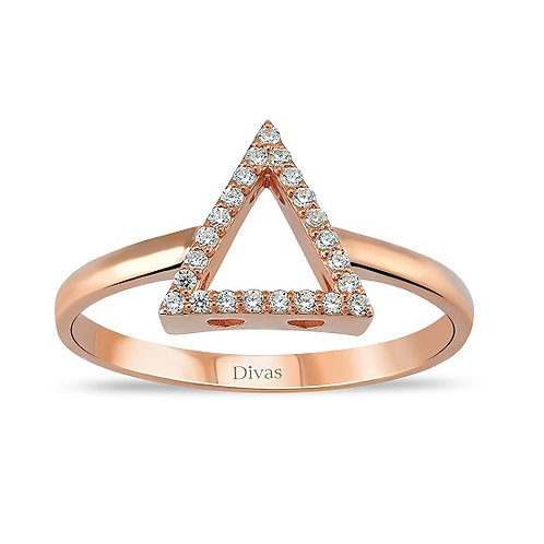 Gemstone Triangle Shaped Ring