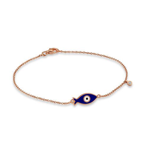Fish Good Luck Eye Bracelet