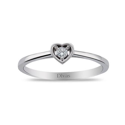 Diamond Heart Solitaire
