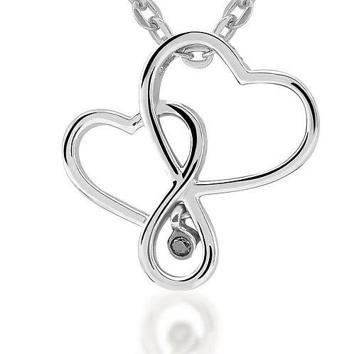 Black Diamond Heart Necklace