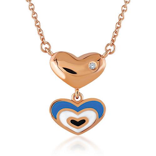 Heart Good Luck Eye Necklace