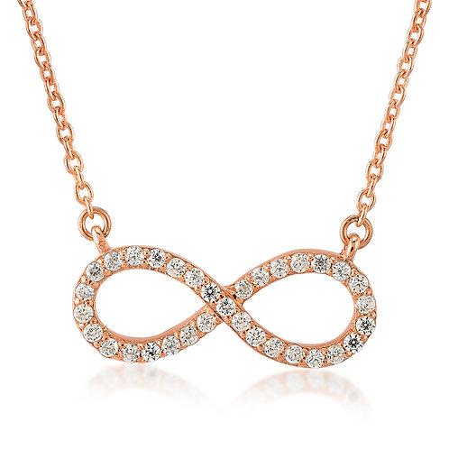 Gemstone Infinity Necklace