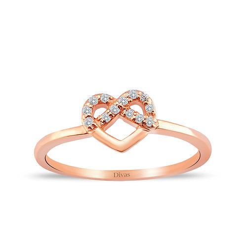 Heart Infinity Stones Ring