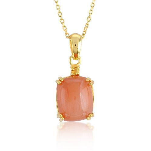 Citrine & Peach Moon Stone Necklace