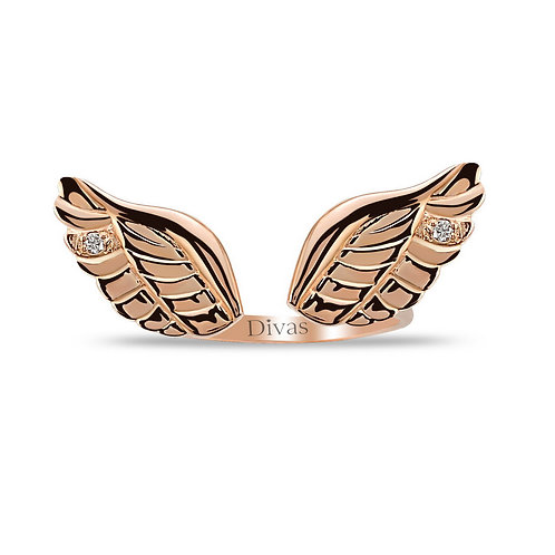 Diamond Angel Wing Ring