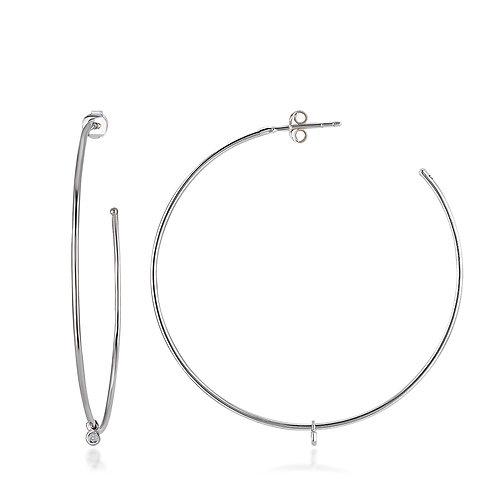 Diamond Circle Earring