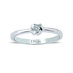 Rose Solitaire Ring