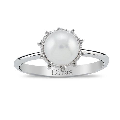 Gemstone Pearl Ring