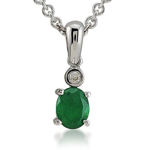 Diamond & Quartz Necklace