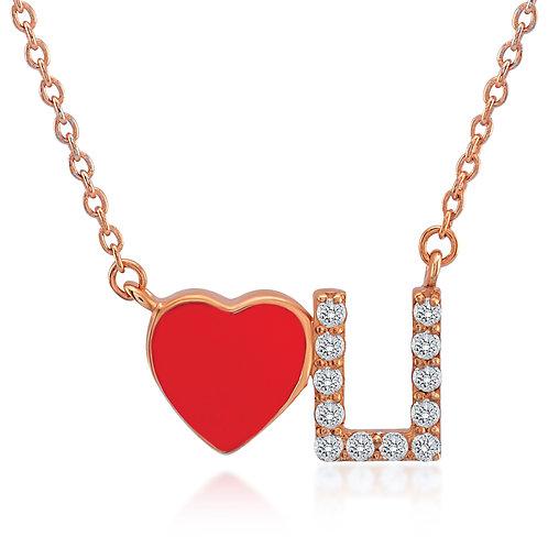 Love U Gemstone Necklace