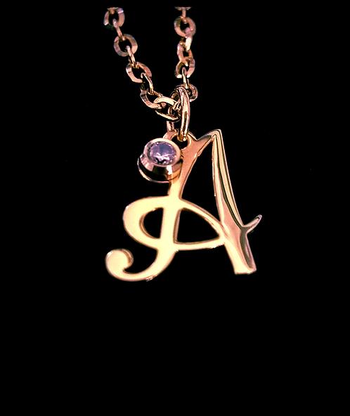 14K Rose Gold plated Monogram Necklace