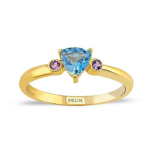 Brazilian Amethyst & Blue Topaz Ring