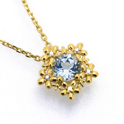 White and Blue Topaz Necklace
