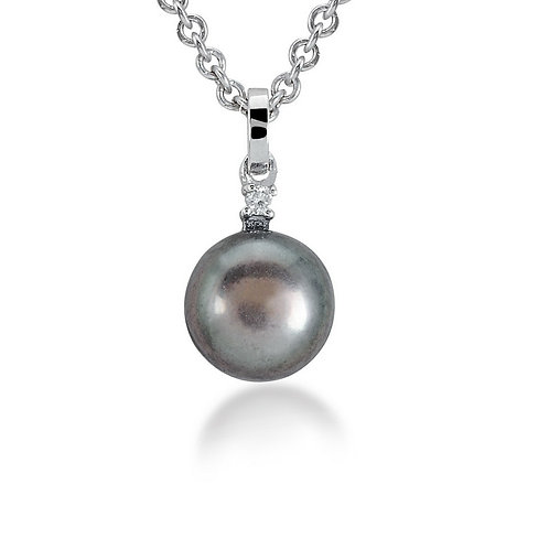 Diamond Black Pearl Necklace