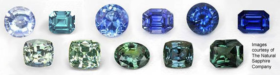 Green and blue sapphires